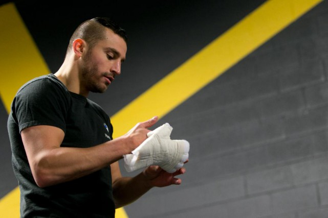 David Lemieux prévient Billy Joe Saunders: il n'est plus... (Photo François Roy, La Presse)