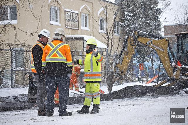 Le chantier près de la mosquée Ahl-Ill-Bait, dans... (Photo Patrick Sanfaçon, La Presse)