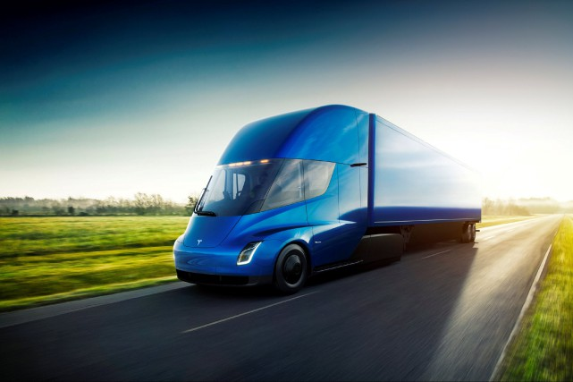 Le Tesla Semi pourrait être sur les routes... (Photo : REUTERS)