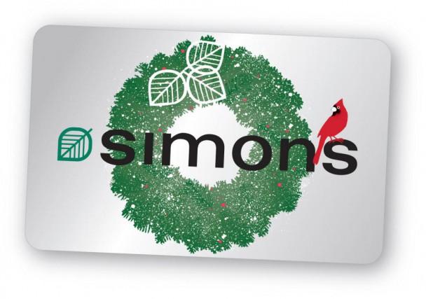 La carte-cadeau Simons... (photo fournie par le détaillant)