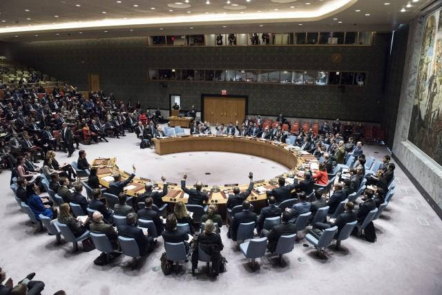 Les membres du Conseil de sécurité de l'ONU.... (Photo Kim Haughton, archives Associated Press/ONU)