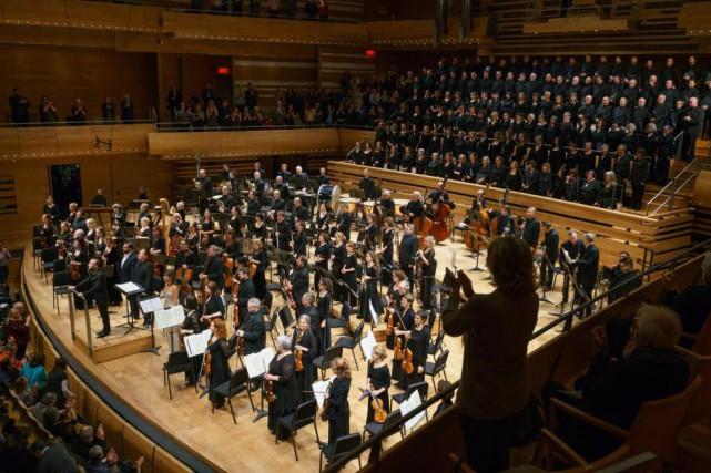 L'Orchestre Métropolitain et le Choeur Métropolitain... (Photo François Goupil, fournie par l'Orchestre Métropolitain)