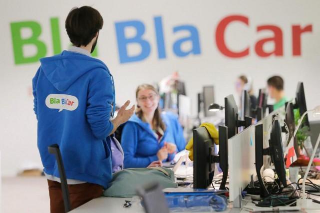Le service français de covoiturage Blablacar met en... (Photo : AP)
