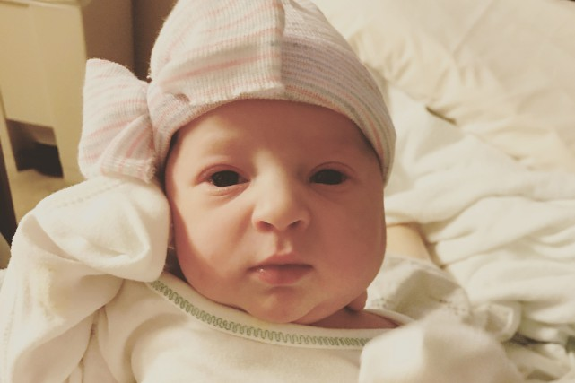 Emma Wren Gibson est née le 25 novembre... (PHOTO AFP)