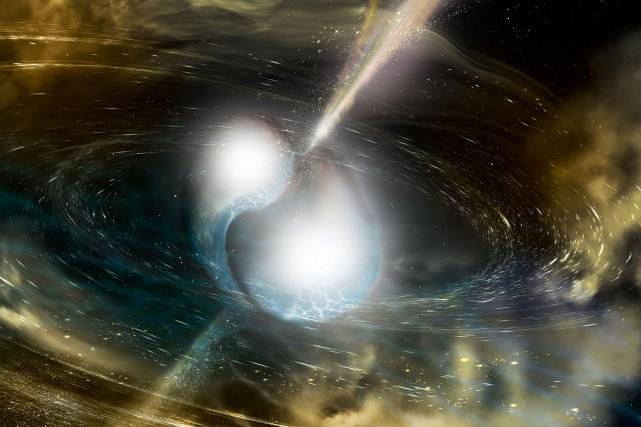 Le choc entre deux étoiles à neutrons s'est... (PHOTO AFP)