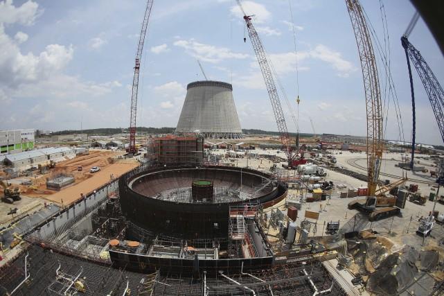 Les deux nouveaux réacteurs nucléaires de la centrale... (Photo John Bazemore, AP)