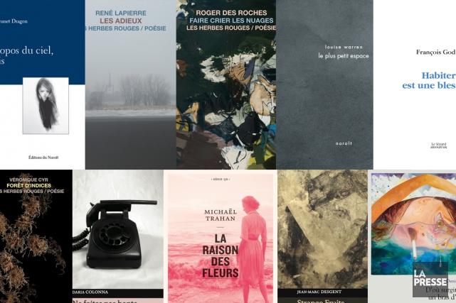 Voici les dix livres de poésie de l'année 2017 (Photo montage La Presse)