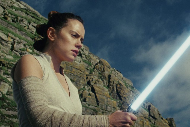 L'actrice Daisy Ridley dans Star Wars: The Last... (PHOTO AP/LUCASFILM)
