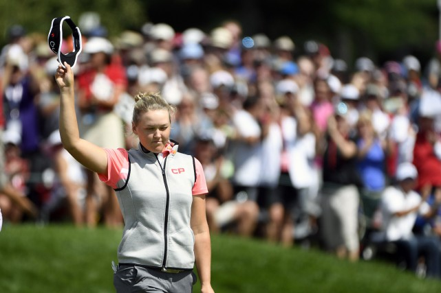 Brooke Henderson... (Photo Eric Bolte, archives USA TODAY Sports)