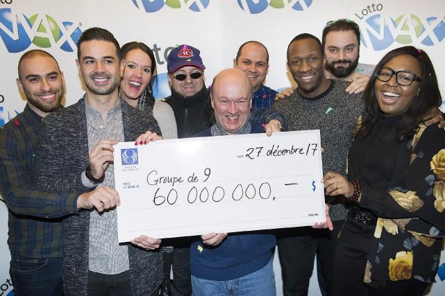 Les gagnants de la cagnotte Julie Béland, Haidar... (Photo Graham Hughes, La Presse canadienne)