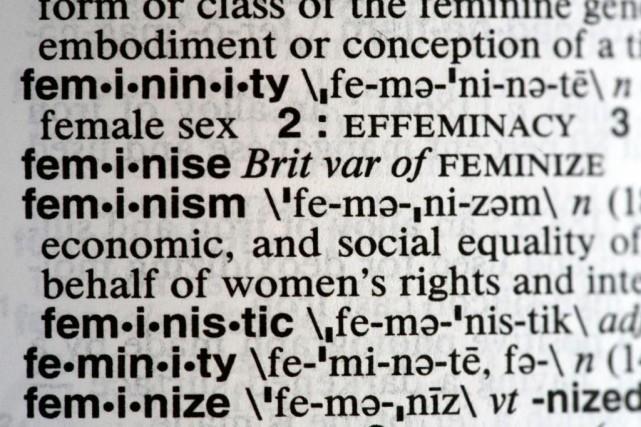 Le dictionnaire américain Merriam-Webster a fait de «féminisme»... (ARCHIVES AP)