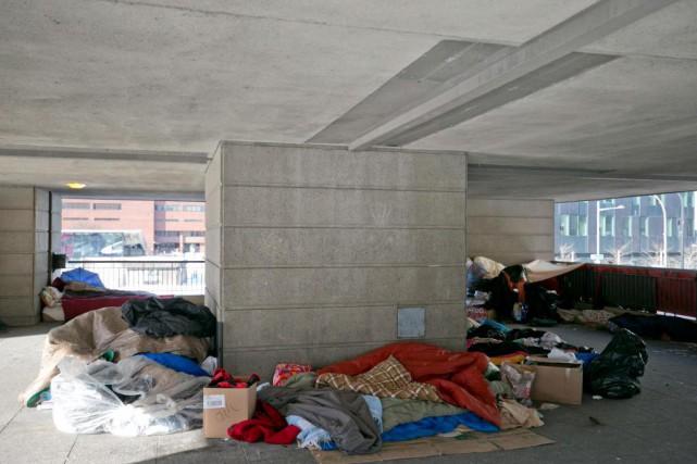 Les refuges pour sans-abri de Montréal étaient mobilisés,... (PHOTO DAVID BOILY, LA PRESSE)