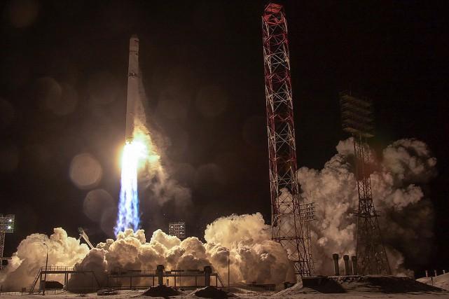 Ce satellite, dont le coût est estimé à... (Roscosmos space agency via AFP)