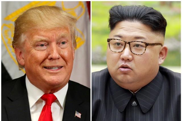 Le président américain Donald Trump etson homologue nord-coréen... (PHOTO ARCHIVES REUTERS)