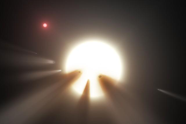 L'étoile Tabby, qualifiée par les scientifiques de «plus... (PHOTO AFP)