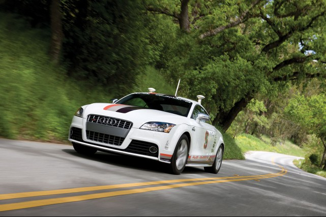 Une Audi TT autonome (quel gaspillage).... (Photo : AUdi)