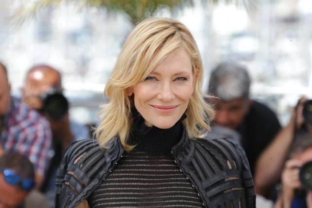 Cate Blanchett sur le tapis rouge du festival... (ARCHIVES AP)