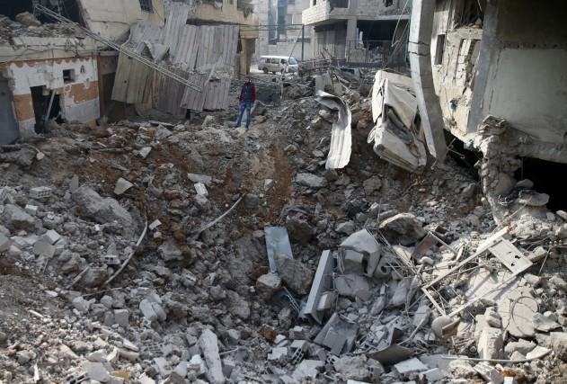 Des raids ont aussi eu lieu jeudi dans... (Photo Bassam Khabieh, archives REUTERS)
