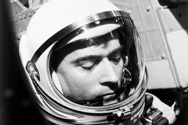 John Young en 1965... (PHOTO ARCHIVES AFP/NASA)