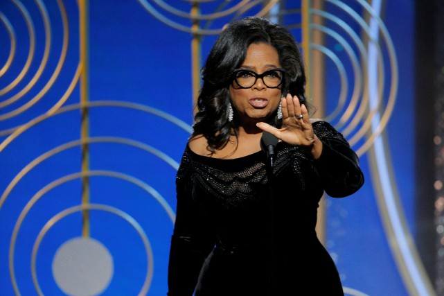 Oprah Winfrey a pris la parole lors de... (PHOTO REUTERS)
