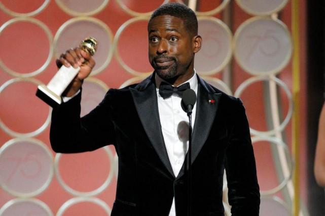 Sterling K. Brown, meilleur acteur dans une série... (photo Paul Drinkwater, fournie par NBC, Associated Press)