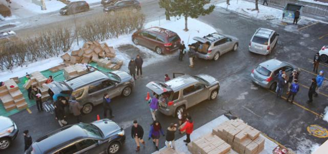 La campagne annuelle des Paniers de Noël du... (Photo fournie par le Collège)