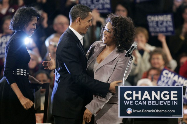Optah Winfrey obtiendrait probablement l'appui de Barack Obama,... (ARCHIVES REUTERS)