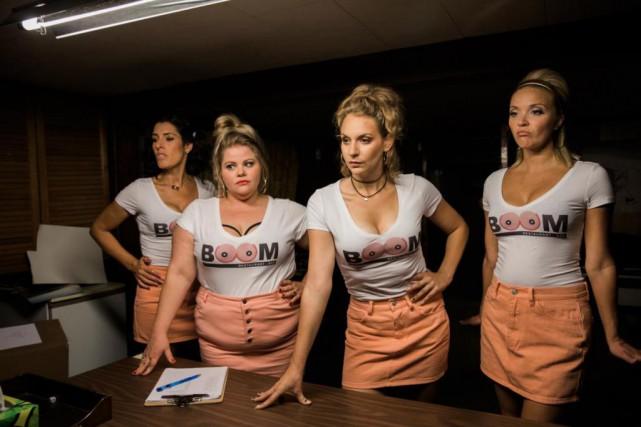 Marie-Hélène Thibault, Geneviève Schmidt, Léane Labrèche-Dor et Julie... (Photo fournie parICI Radio-Canada Télé)