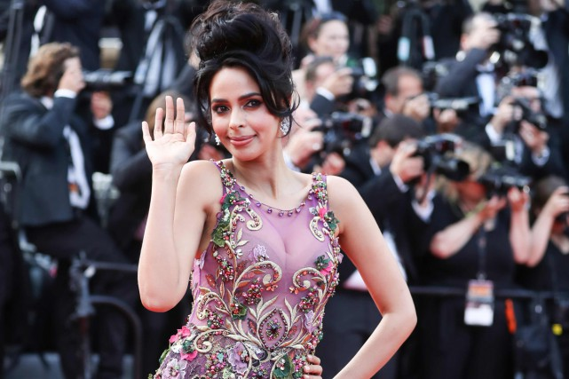 L'actrice Mallika Sherawat à Cannes en mai 2017.... (PHOTO ARCHIVES AFP)