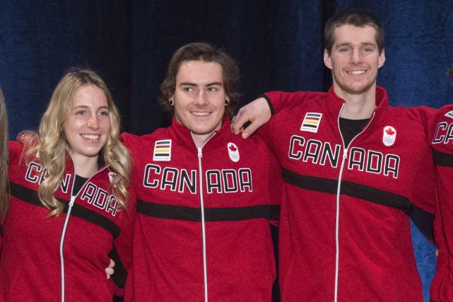 Laurie Blouin, Sébastien Toutant et Maxence Parrot... (Photo Jonathan Hayward, PC)