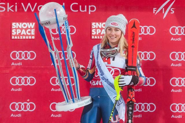 Mikaela Shiffrin... (Photo Johann Groder, AFP)
