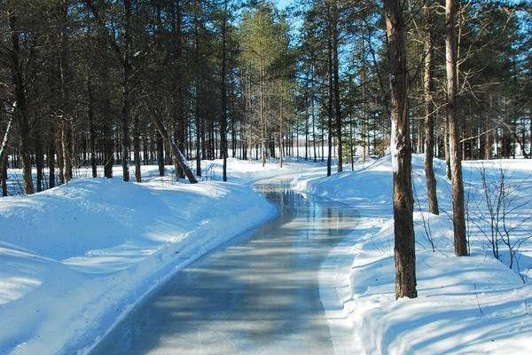 Le sentier glacé du Domaine de la forêt... (Photo fournie par le Domaine de la forêt perdue)