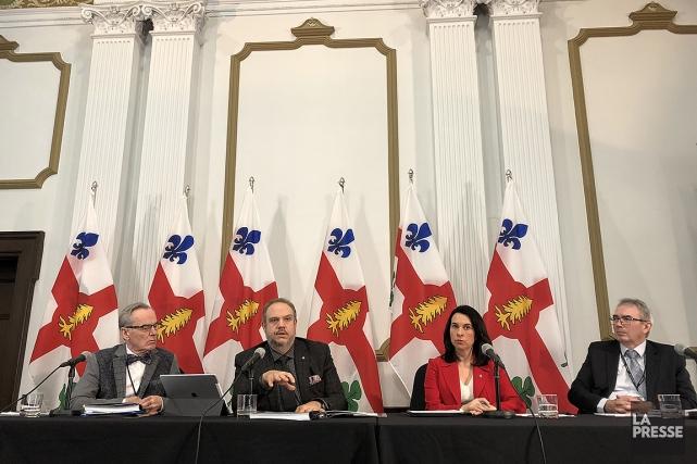 L'administration Plante-Dorais a présenté ce matin son tout... (Patrick Sanfaçon, La Presse)