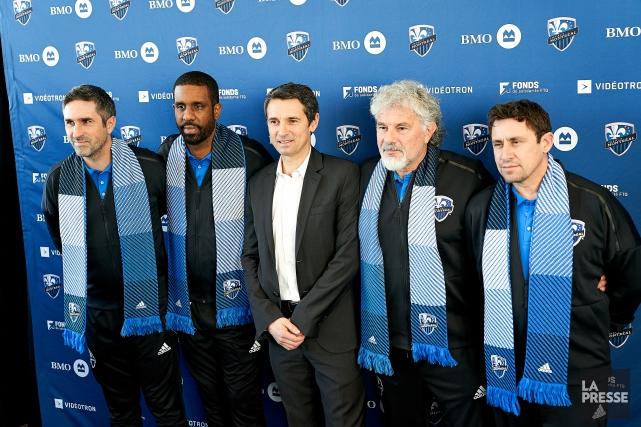 Maxence Flachez, Wilfried Nancy, Rémi Garde, Joël Bats... (Photo André Pichette, La Presse)