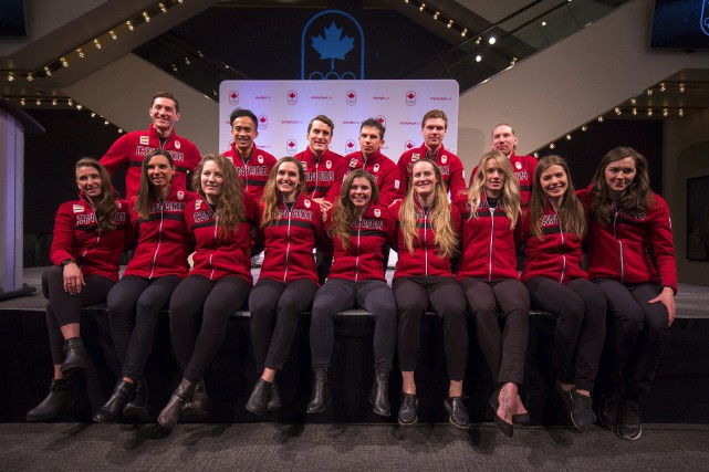 La composition de l'équipe olympique canadienne de patinage... (Photo Todd Korol, PC)