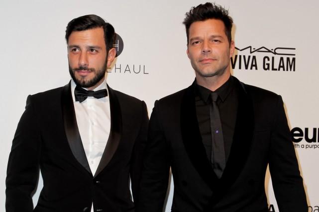 Jwan Yosef et Ricky Martin lors d'un événement... (PHOTO ARCHIVES AFP)