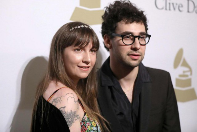 Lena Dunham et Jack Antonoff... (Photo Rich Fury, archives Invision/Associated Press)
