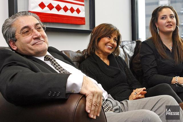 Nichan Manoukian, son épouse Manoudshag Saryboyajian et leur... (Robert Mailloux, archives La Presse)