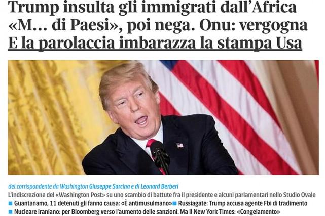 Le titre du quotidien italienCorriere della Sera... (IMAGE TIRÉE DE HTTP://WWW.CORRIERE.IT)