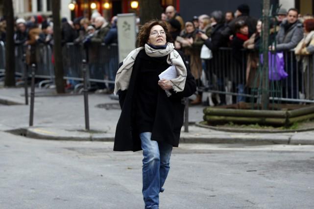 Jane Birkin était présente à l'inhumation de France... (Photo AP)