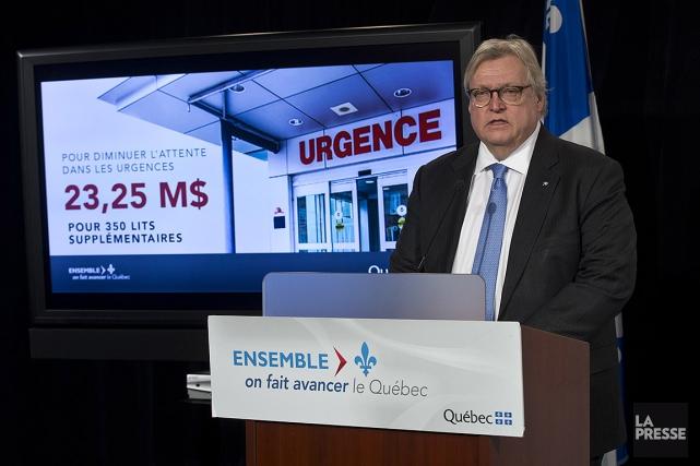 Le ministre de la Santé Gaétan Barrette a... (Patrick Sanfaçon, La Presse)
