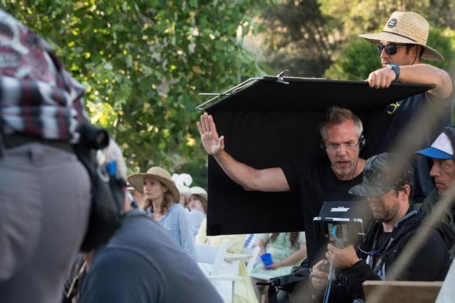 Jean-Marc Vallée sur le plateau de tournage deSharp... (photoAnne-Marie Fox)
