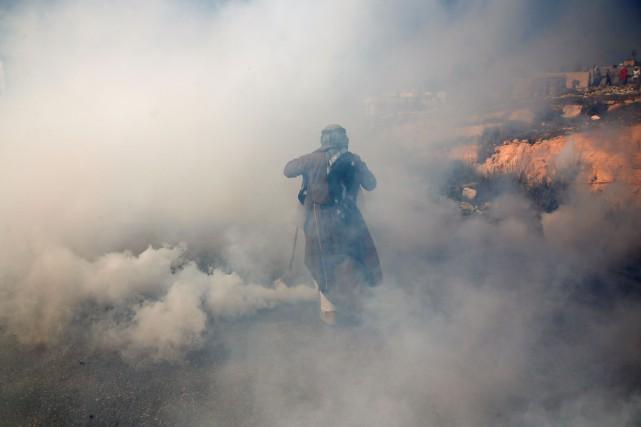 Des accrochages ont eu lieu après les discours,... (PHOTO ABBAS MOMANI, AFP)