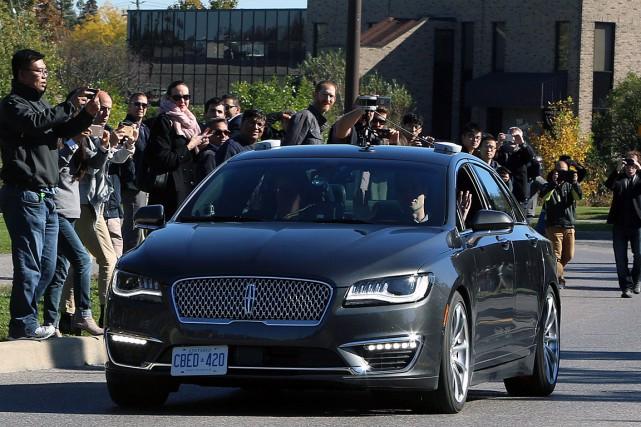 Un véhicule autonome de BlackBerry a circulé dans... (PHOTO FRED CHARTRAND, ARCHIVES LA PRESSE CANADIENNE)