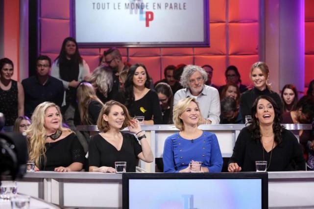 Geneviève Schmidt, Léane Labrèche-Dor, Julie Ringuette et Marie-Hélène... (Photo KarineDufour, fournie par ICI Radio-Canada)