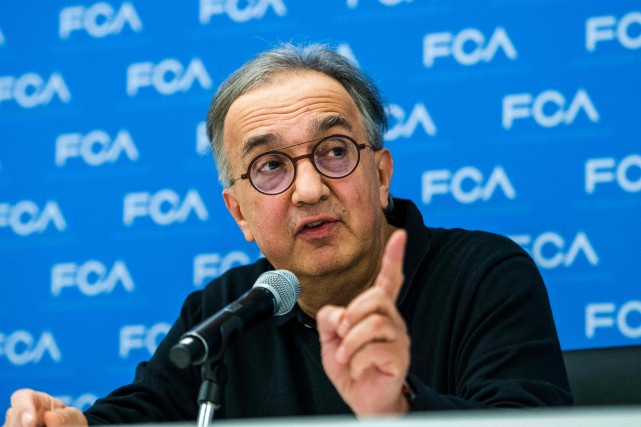 Sergio Marchionne, PDG de Fiat-Chrysler, n'a pas envie... (photo AFP)