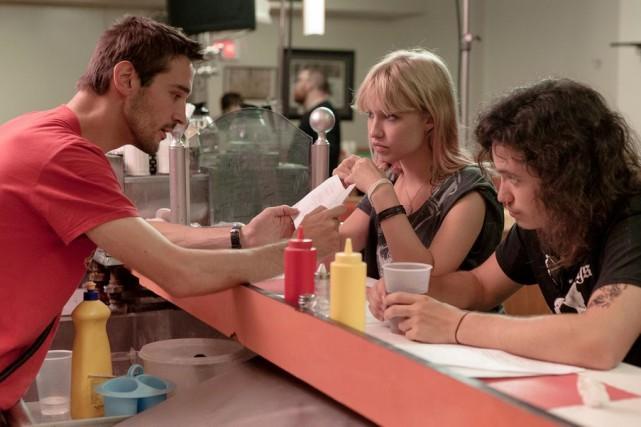 Pascal Plante (à gauche) dirige ses deux acteurs... (Photo fournie par Maison 4:3)