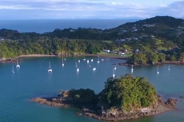 Relativement petite - avec 8,4 acres -, l'île,... (Photo tirée du site web)