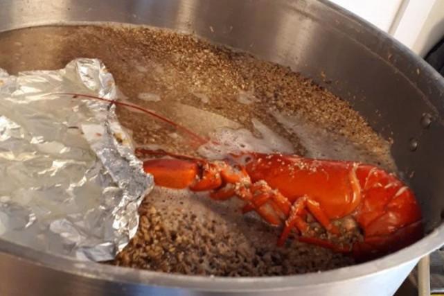 Les homards sont ajoutés aux céréales dès le... (Photo La Presse Canadienne)