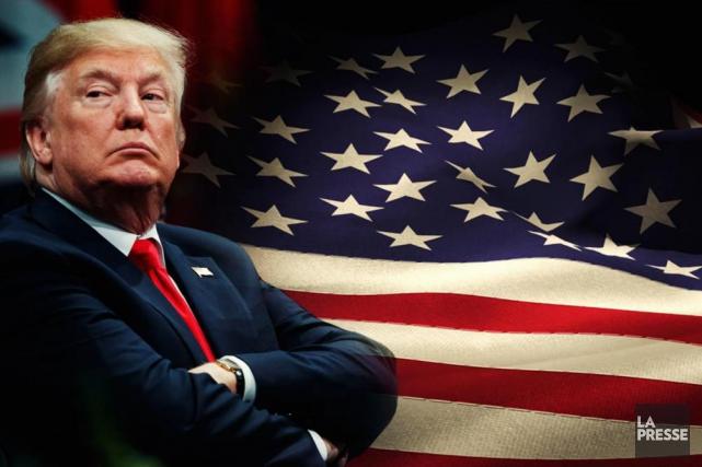 L'an 1 de Donald Trump au pouvoir se termine comme il a commencé. On assiste à... (Photomontage La Presse)